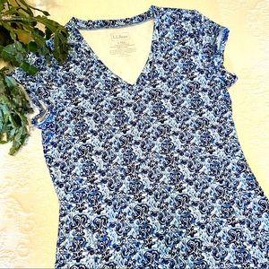 L.L.Bean short sleeve fitness dress